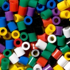 Első Hama vasalható MAXI gyöngy készletem - 500 db-os vegyes élénk színek