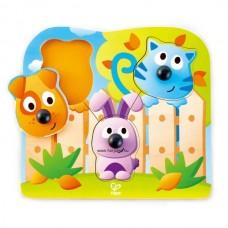 Hape Fogantyús puzzle - bébi állatok
