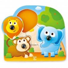 Hape Fogantyús puzzle - bébi vadállatok