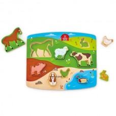 Hape Játék és puzzle egyben!-Farm