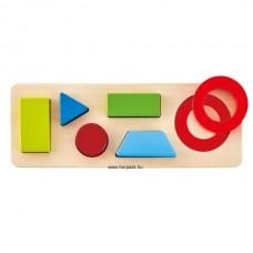 Hape Első forma puzzle kicsiknek-kétoldalas