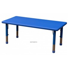 Asztal,téglalap,állítható magasságú,kék