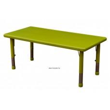 Asztal,téglalap,állítható magasságú,zöld
