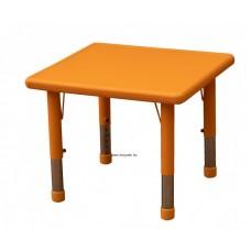 Asztal,négyzet,állítható magasságú,narancs
