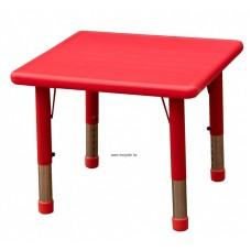 Asztal,négyzet,állítható magasságú,piros
