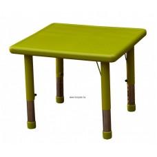 Asztal,négyzet,állítható magasságú,zöld