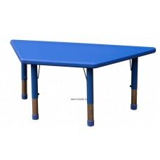 Asztal,trapéz,állítható magasságú,kék