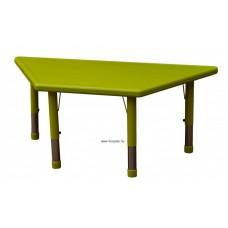 Asztal,trapéz,állítható magasságú,zöld