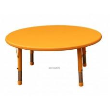 Asztal,kör,állítható magasságú,narancs