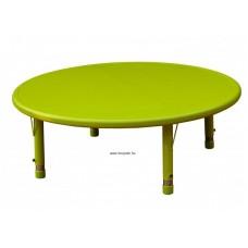 Asztal,kör,állítható magasságú,zöld