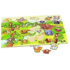 Óriás fogantyús puzzle - Farm