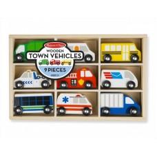 Városi járművek - fa kisautó készlet