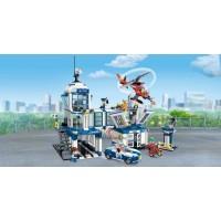 Rendőrállomás járművekkel, figurákkal - 731 db-os építőkészlet