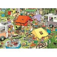Képregény puzzle-Kempingezés