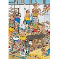Képregény puzzle-Edzőterem