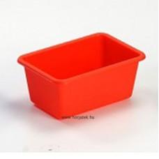 Műanyag tároló - narancs