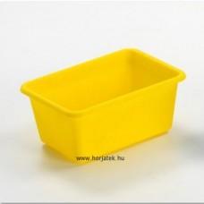 Műanyag tároló - sárga