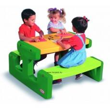 Piknik asztal zöld-sárga