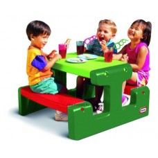 Piknik asztal,junior- zöld-piros