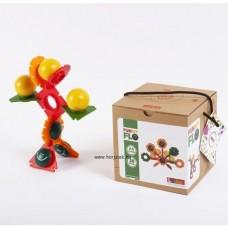 Vidám virágok-építőjáték, 28 db-os dobozos kiszerelés