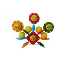 Vidám virágok-építőjáték, 40 db-os