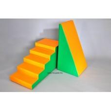 Modulkészlet kicsiknek - Lépcső és Lejtő  - szivacsmodul mozgásfejlesztéshez