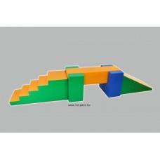 Modulkészlet kicsiknek híddal  - szivacsmodul mozgásfejlesztéshez