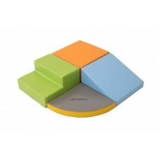 Modul készlet kicsiknek pasztell színben  - szivacsmodul mozgásfejlesztéshez