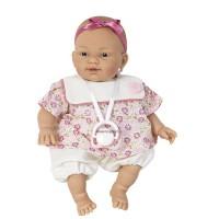 Csecsemő baba,rózsaszín ruhában  26 cm