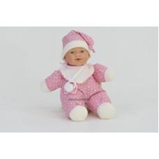 Gyömi baba, rózsaszín ruhában, 26 cm