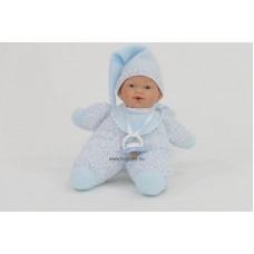 Gyömi baba, kék ruhában, 26 cm