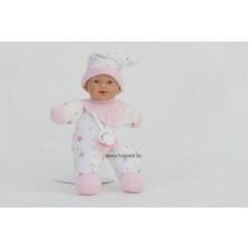 Gyömi baba, fehér ruhában, 26 cm