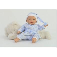 Peti baba kék ruhában, 40 cm