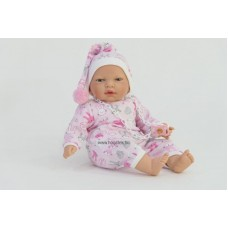 Panni baba rózsaszín ruhában, 40 cm