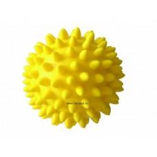 Tüskelabda 8 cm - sárga