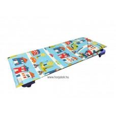 Gyermekágynemű - Paplanhuzat városos mintával kék alapon