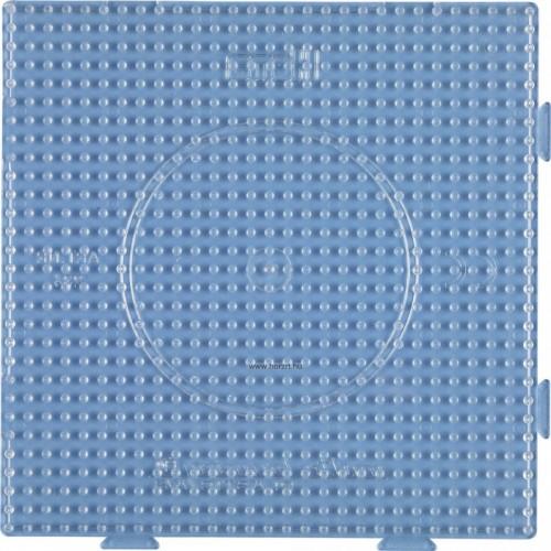 Hama vasalható gyöngyhöz Alaplap Midi - Nagy négyzet (összekapcsolható), átlátszó