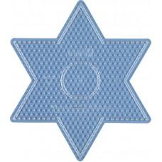 Hama vasalható gyöngyhöz Alaplap Midi - Nagy csillag, átlátszó