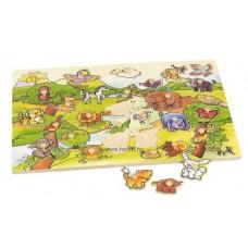 Óriás fogantyús puzzle - Állatok