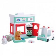 Állatkórház játékfigura készlet