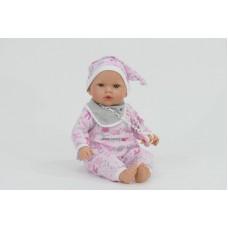 Tita baba, rózsaszín ruhában, súlyozott, 45 cm