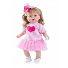 Tita hajas baba, rózsaszín szoknyában, 45cm