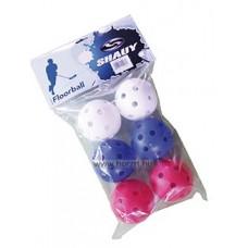 Floorball labda, 6 darab