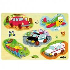 Hangot adó puzzle-járművek