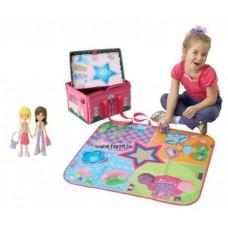 Játszószőnyeg csillagos, kicsi, tároló dobozzá alakítható